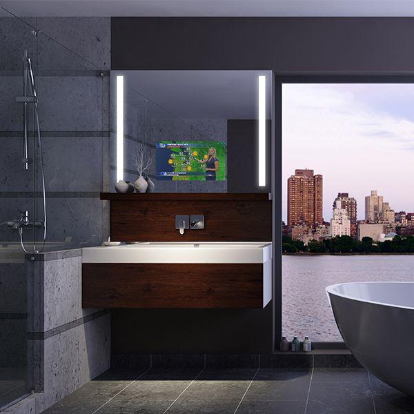 RM Living Cincinnati Contemporary Interior Bathrooms Mirror by Electric Mirror