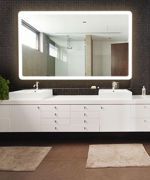 RM Living Contemporary Bathroom Interior Design Mirror by Electric Mirror